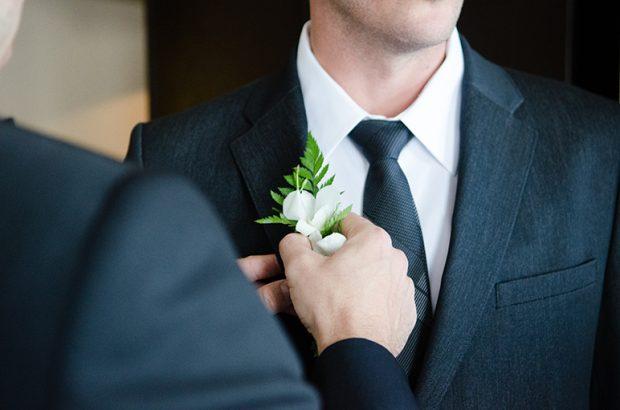 Groom Boutonniere wedding dress shirt