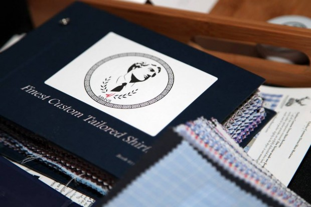 Swatch books at the deo veritas fitting event