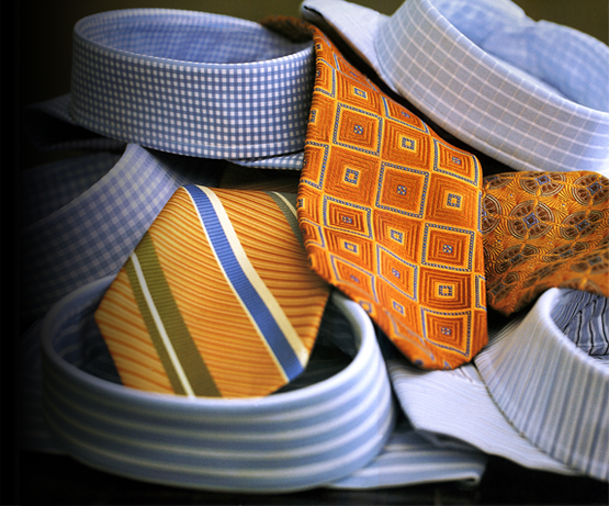 Ties shirts and collars for dress shirt fabrics
