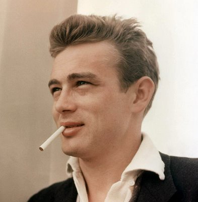 Cigarette in mouth james dean style icon