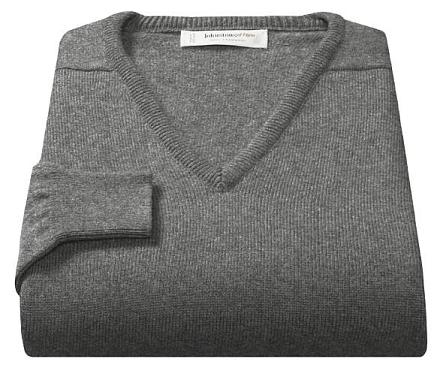 V-neck sweaters as part of a man's wardrobe