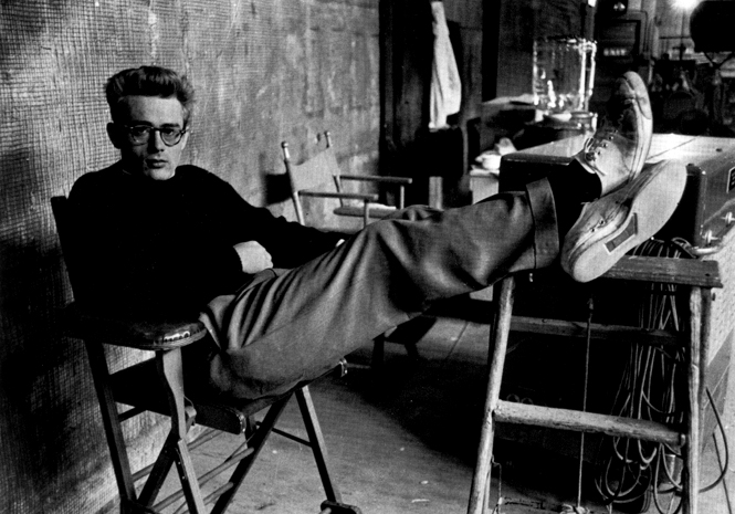 Casually dressed James Dean style icon