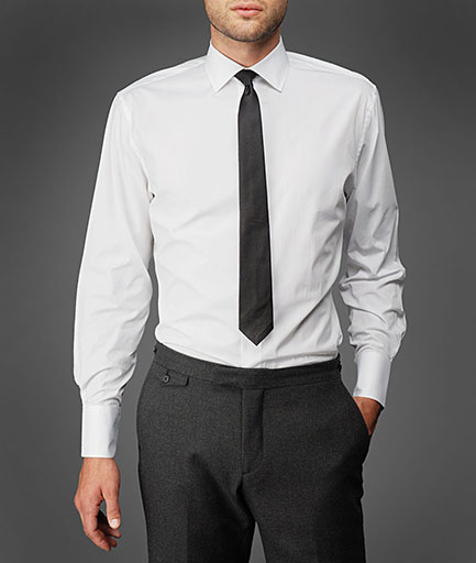 Dress shirt white proper fit