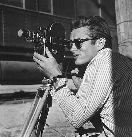 Stylish sunglasses while shooting style icon james
