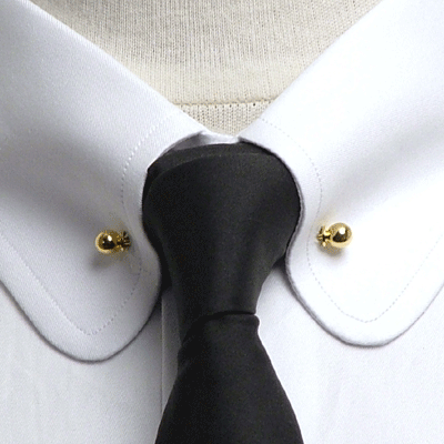 club collar shirt with pin