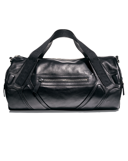 Leather duffle bag man's winter wardrobe
