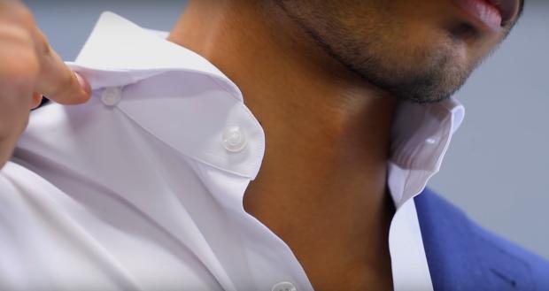 How to Keep Your Dress Shirt Collars Looking Crisp: hidden buttons