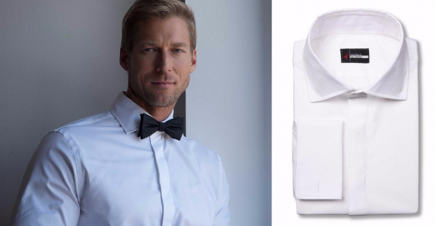 A Guide to Tuxedo Shirts And Styles: Plain front tuxedo dress shirt style