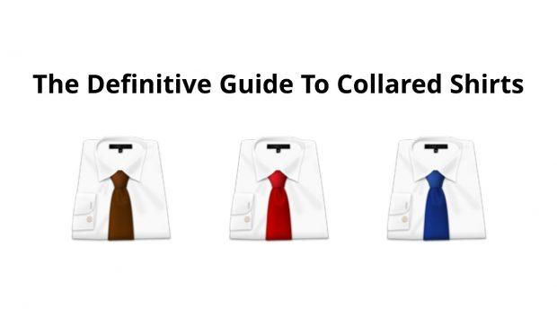 Dress shirt collars: Ties and shirts