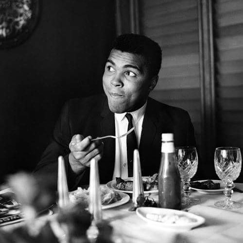 Boxing Legend And Style Icon Muhammad Ali: skinny suit and tie