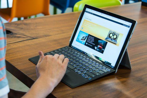Microsoft Surface Pro 4 Vs. The MacBook Pro: kickstand