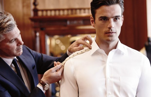 Bespoke and made to measure shirts: Getting measured
