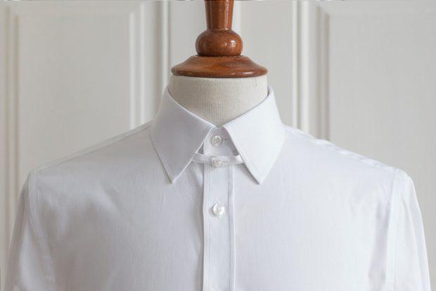 Dress shirt collars: Tab collar