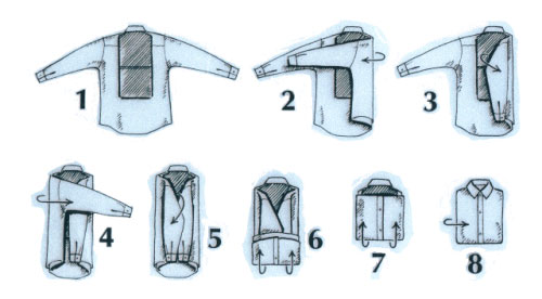 How To Fold Dress Shirts And Pack Them Properly: proper technique