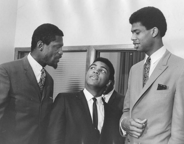 Boxing Legend And Style Icon Muhammad Ali: among greats jabbar and russell