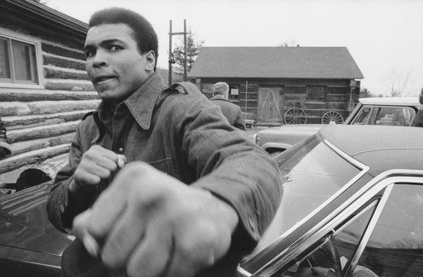 Boxing Legend And Style Icon Muhammad Ali: denim jacket