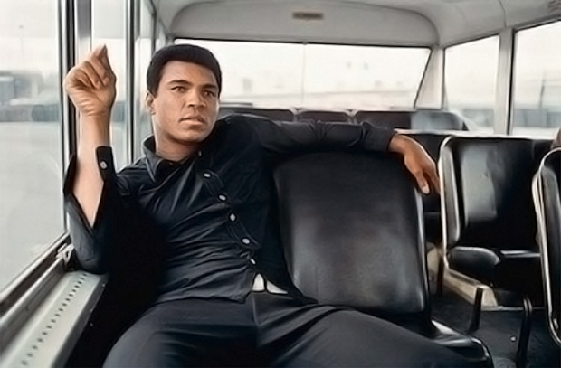 Boxing Legend And Style Icon Muhammad Ali: all black ensemble