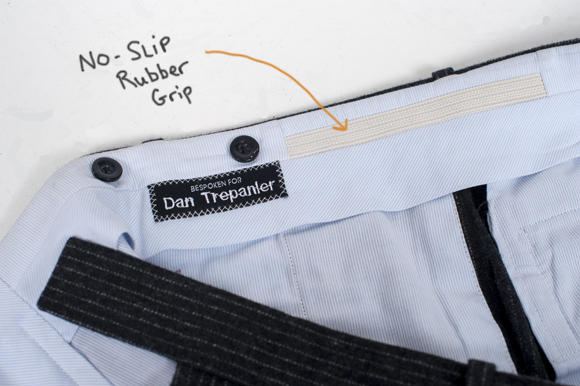 Our Guide To Keeping Your Dress Shirt Tucked In All Day: no slip rubber grip